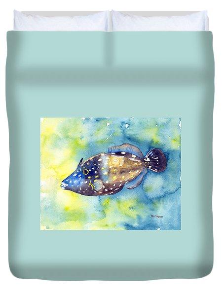 Whitespot Filefish Duvet Cover