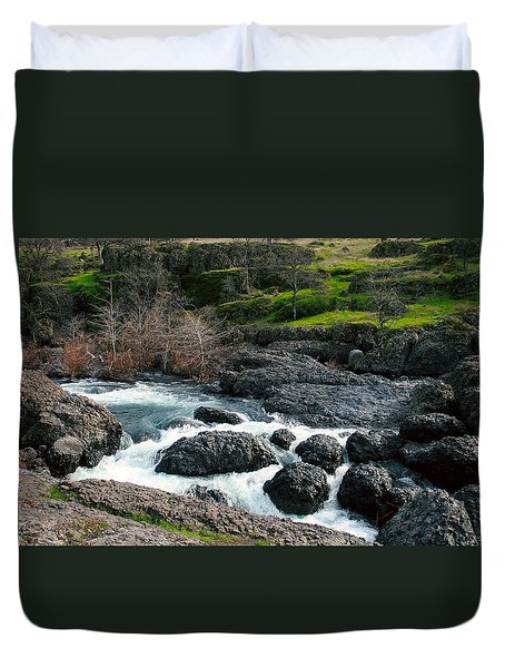 Whitewater At Bear Hole Duvet Cover