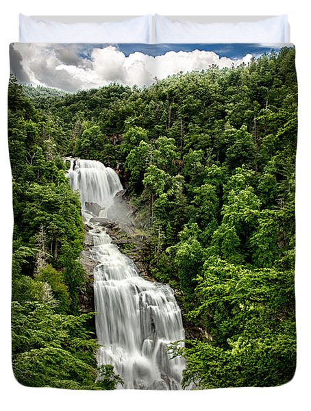 Whitewater Falls Duvet Cover by John Haldane