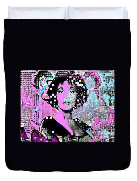 Whitney Houston Sing For Me Again 2 Duvet Cover