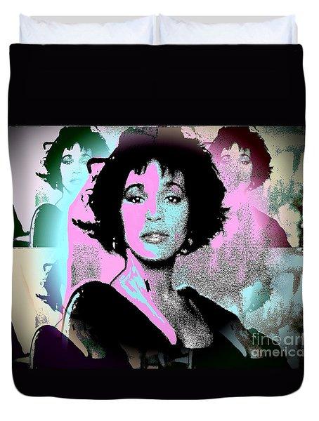 Whitney Houston Sing For Me Again Duvet Cover