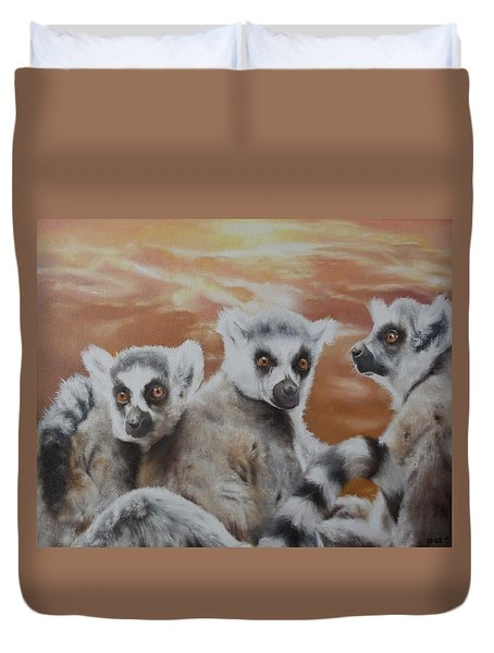 Who What Where Duvet Cover by Cherise Foster