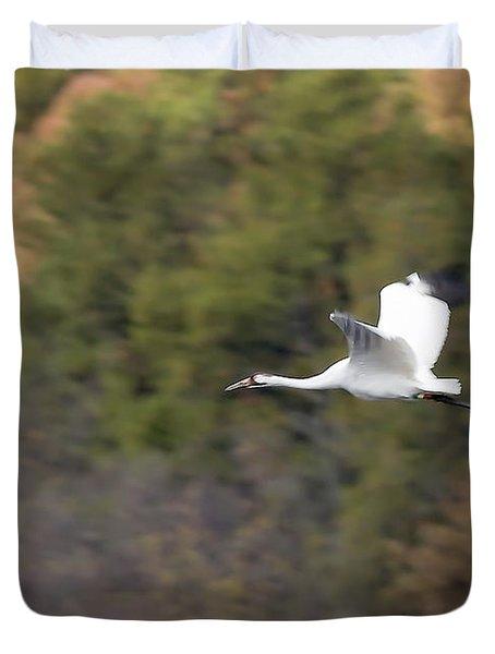 Whooping Crane Duvet Cover by Steven Ralser