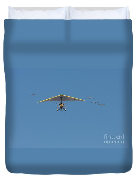 Whooping Cranes And Operation Migration Ultralight Duvet Cover by Paul Rebmann