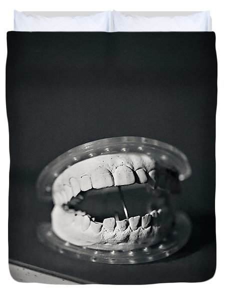 Duvet Cover featuring the photograph Whose Teeth Are These? by Trish Mistric
