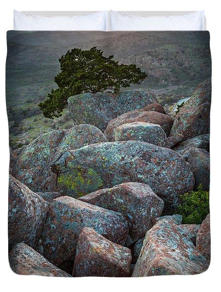 Wichita Mountains Duvet Cover by Inge Johnsson