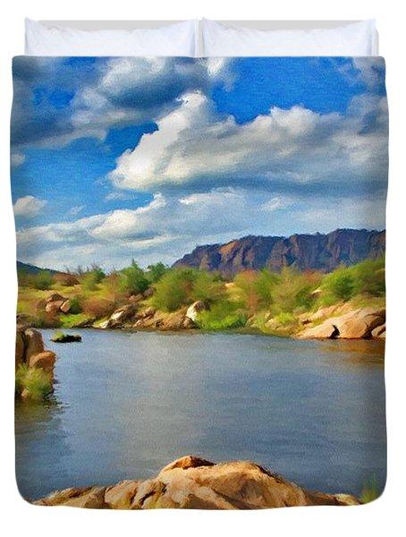 Wichita Mountains Duvet Cover by Jeffrey Kolker
