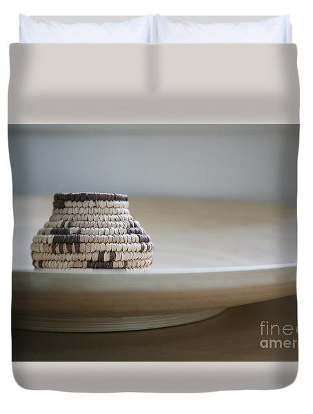 Wicker On Wood Duvet Cover by Lynn England