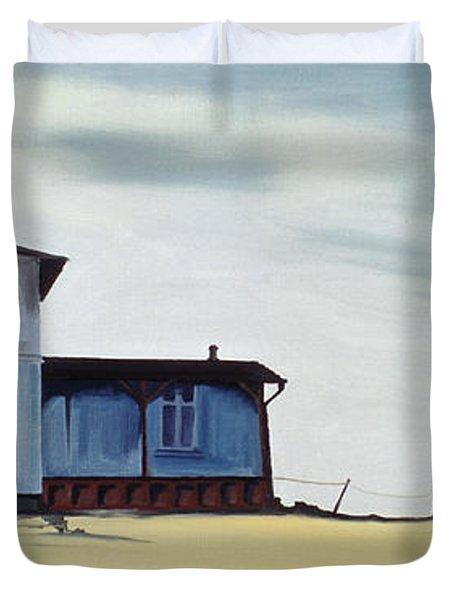 Wide Blue Duvet Cover