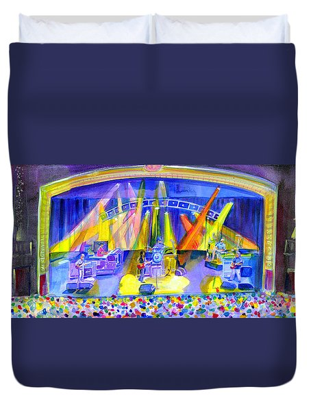 Duvet Cover featuring the painting Widespread Panic Peabody Opera House by David Sockrider