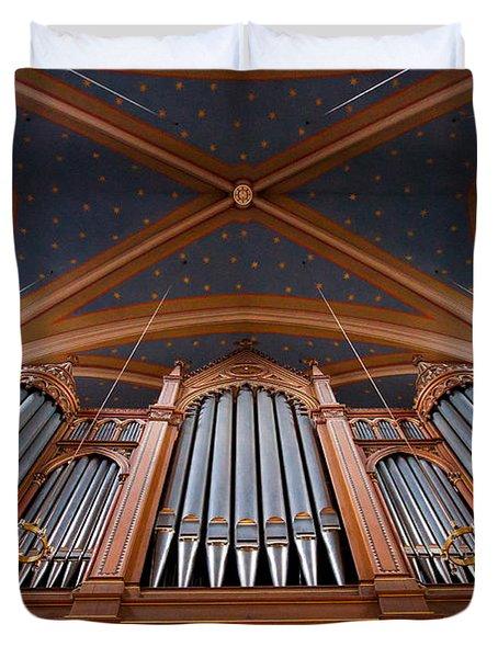 Wiesbaden Marktkirche Organ Duvet Cover