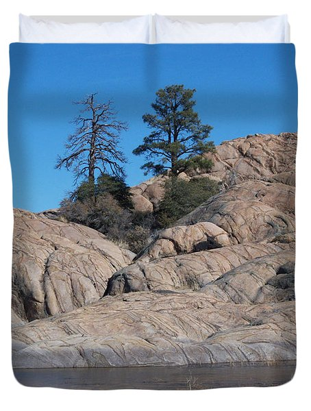 Willow Lake Number One Color Duvet Cover by Heather Kirk