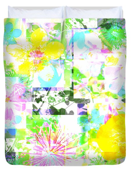 Wild About Flowers Duvet Cover by Barbara Moignard
