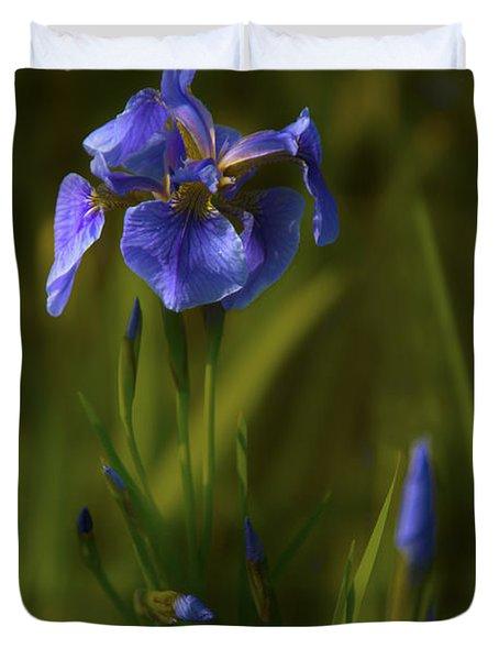 Wild Alaskan Iris Duvet Cover
