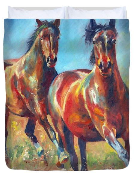 Wild And Free Duvet Cover by David Stribbling