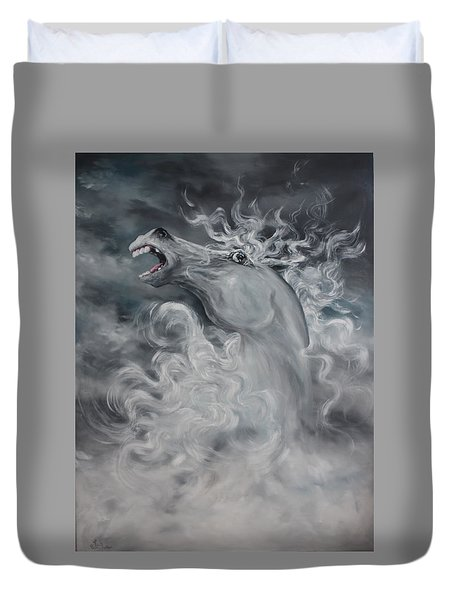 Duvet Cover featuring the painting Wild And Free by Jean Walker