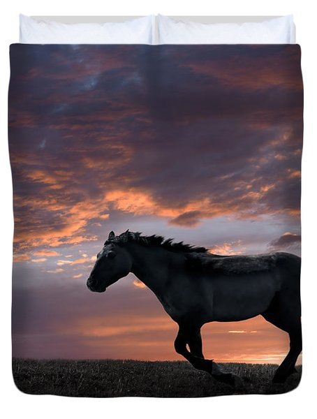 Wild And Free Duvet Cover by Leland D Howard