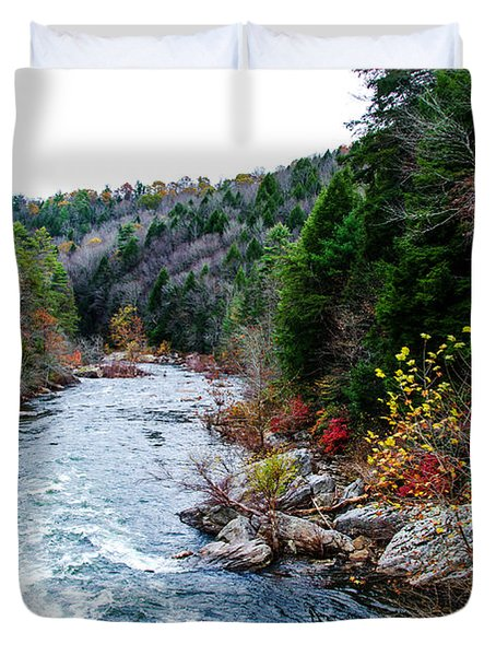 Wild And Scenic Obed River Duvet Cover by Paul Mashburn