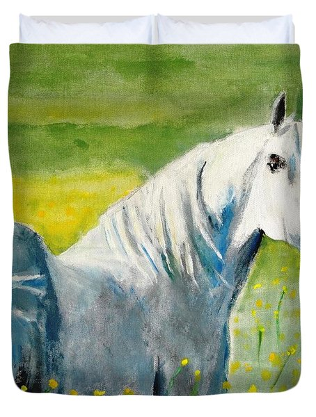 Wild As The Wind Duvet Cover by Judy Kay