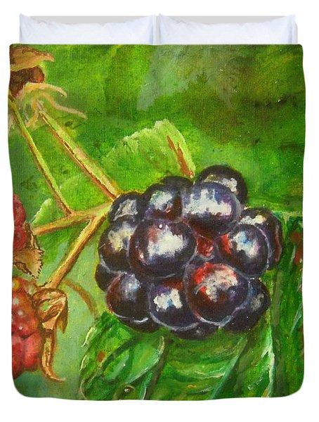 Wild Blackberries Duvet Cover