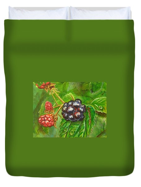 Wild Blackberries Duvet Cover
