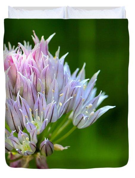 Wild Blue - Chive Blossom Duvet Cover