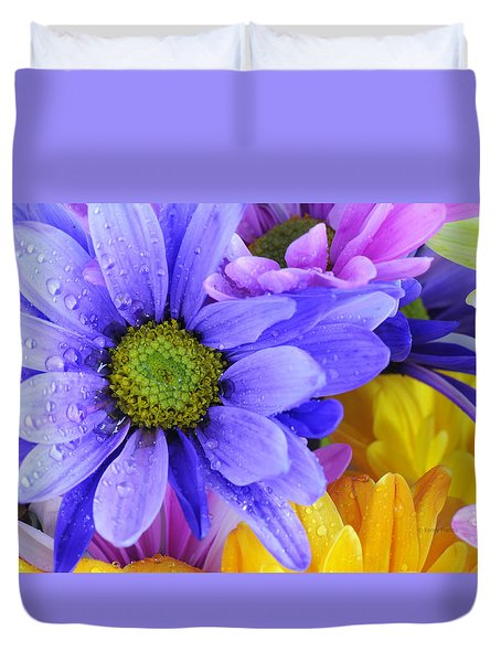 Wild Crazy Daisies 2 Duvet Cover by Kenny Francis