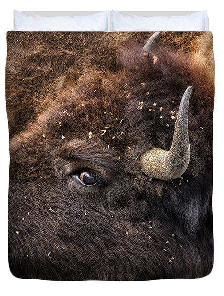 Wild Eye - Bison - Yellowstone Duvet Cover