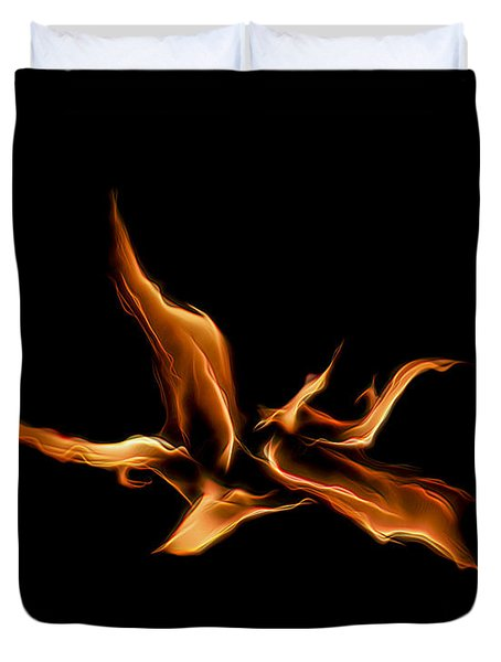 Wild Fire Duvet Cover