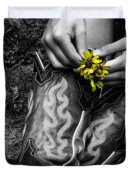 Wild Flower Boots Duvet Cover