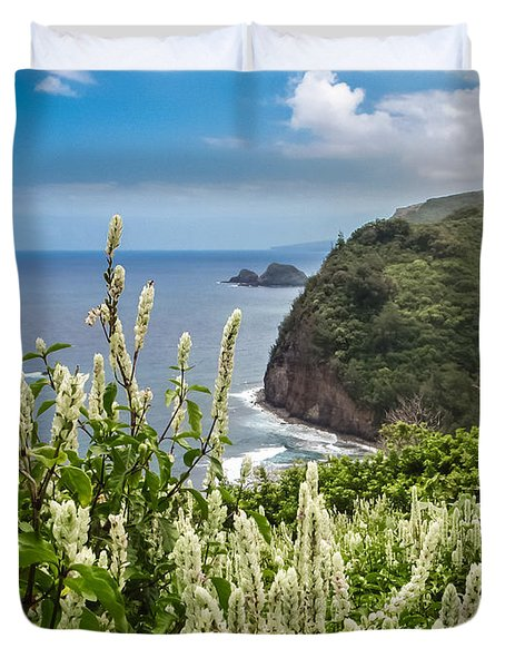 Wild Flowers At Pololu Duvet Cover by Denise Bird
