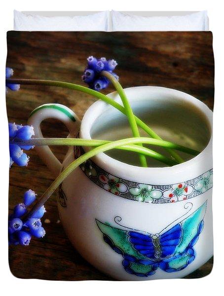 Wild Flowers In Sugar Bowl Duvet Cover