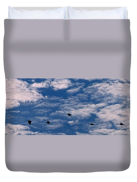 Wild Goose Heaven Duvet Cover by Skip Willits
