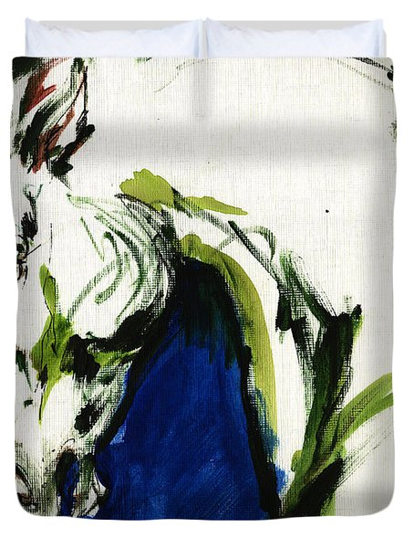 Wild Horse Duvet Cover by Angel  Tarantella