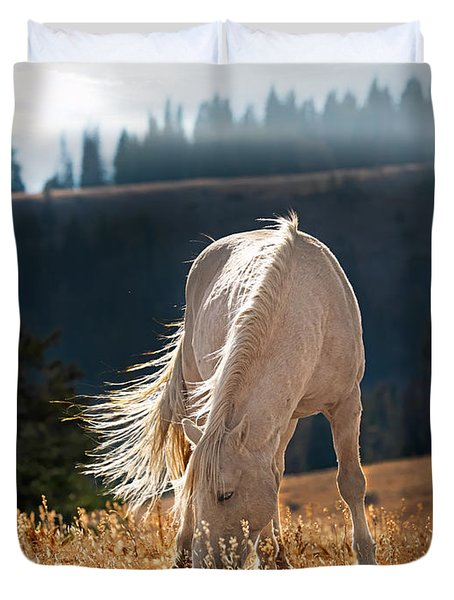 Wild Horse Cloud Duvet Cover