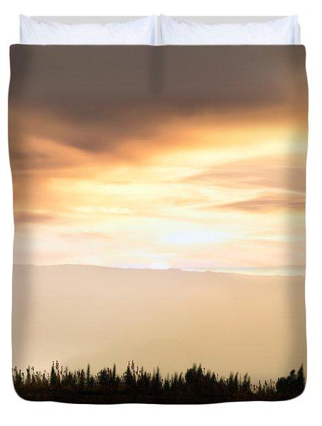 Wild Horse Sunset Duvet Cover by Leland D Howard