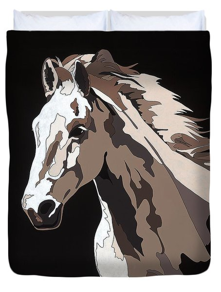 Wild Horse With Hidden Pictures Duvet Cover
