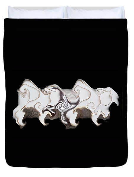 Wild Horses Abstract Duvet Cover