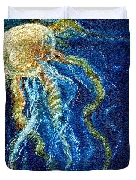 Wild Jellyfish Reflection Duvet Cover