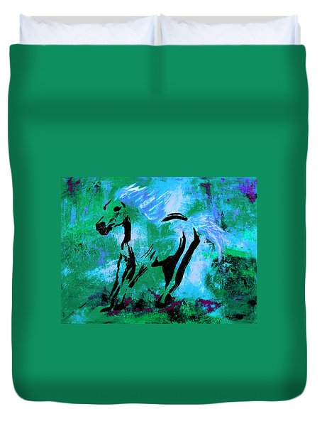 Wild Midnight Duvet Cover