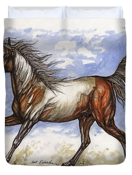 Wild Mustang Duvet Cover by Angel  Tarantella
