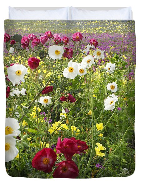 Wild Poppies South Texas Duvet Cover