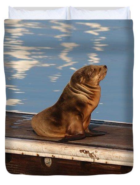 Wild Pup Sun Bathing Duvet Cover