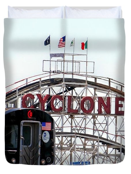 Duvet Cover featuring the photograph Wild Rides by Ed Weidman