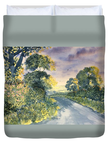 Wild Roses On The Wolds Duvet Cover