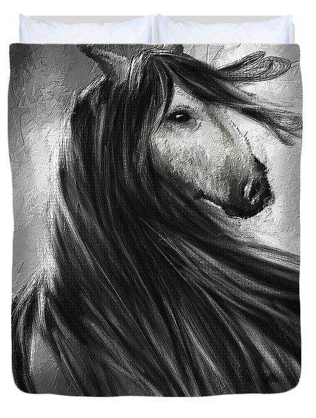 Wild Soul- Fine Art Horse Artwork Duvet Cover