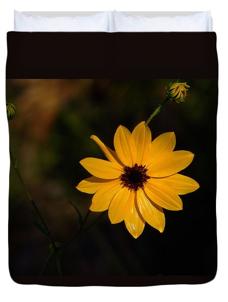 Duvet Cover featuring the photograph Wild Sunflower by Rosalie Scanlon