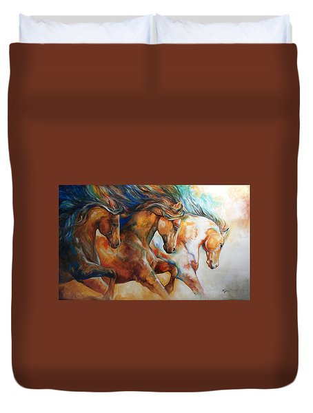 Wild Trio Run Duvet Cover