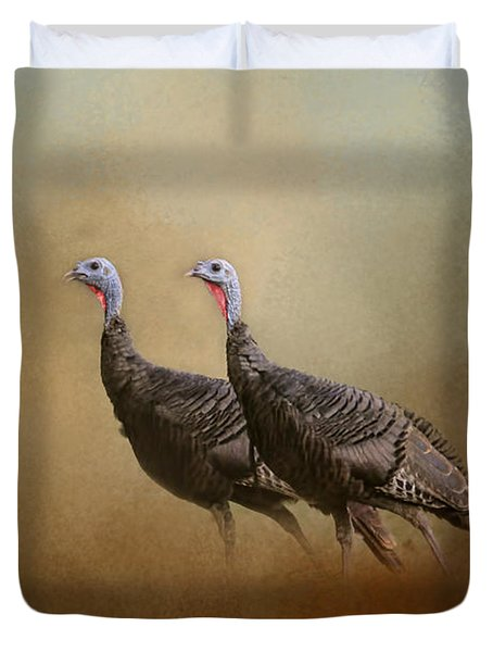 Wild Turkey At Shiloh Duvet Cover