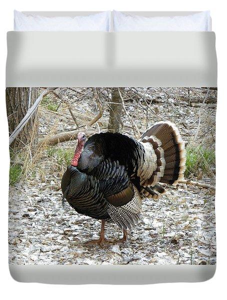 Wild Turkey Mnt Zion Ut Duvet Cover